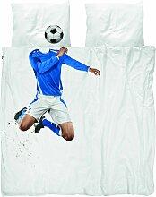 Snurk Soccer Champ Blue Bettwäsche 200x220