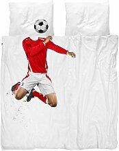 Snurk Soccer Champ Red Bettwäsche 200x220