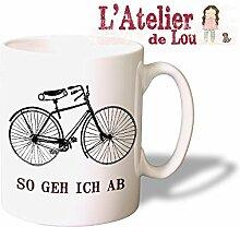 SO GEH ICH AB lustige Keramik Kaffeetasse Mug Kaffeebecher - Originelle Geschenkidee - Spülmaschinenfes