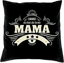 SO-GmbH Geschenkset Danke Mama Kissen & Urkunde
