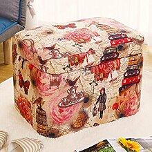 So senden Hocker Lagerung Für Schuhhocker Einfacher Tuchlagerhocker Tragen Eines Schuhhockers Kreativer Kinderhocker Wohnzimmer Sofa Hocker Multifunktionaler Hocker (Vier Farben Vorhanden) --Lagerhocker ( Farbe : #3 )