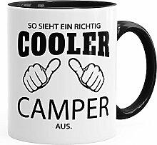 So sieht ein richtig ein richtig cooler Camper aus Tasse Berufe MoonWorks® schwarz unisize