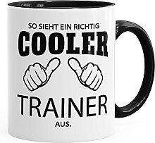 So sieht ein richtig ein richtig cooler Trainer aus Tasse Berufe MoonWorks® schwarz unisize