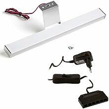 SO-TECH® 1er Set LED Aufbauleuchte Möbelleuchte Sky pro mit 12W Trafo | 12V / 3,2W | kaltweiß - 6000K | 304 x 30 x 15 mm