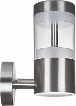 SO-TECH® LED Wandleuchte Albero A echt Edelstahl / 230 V / 11 Watt / 60 SMD LED's
