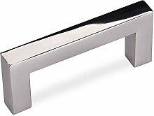 SO-TECH® Möbelgriff Schubladengriff E8 echt Edelstahl auf hochglanz poliert BA 64 mm