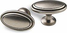 SO-TECH® Möbelknopf Oval Knopfgriff Möbelgriff
