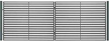 SO17 Einfahrtstor Hoftor Doppelflügeltor Gartentor Berlin 350 x 150 cm. Komplett-Set inklusive 2 Torelementen, 2 Stahlpfosten und Beschlägen. Gesamtbreite ist ca. 377 cm