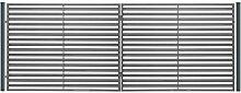 SO17 Einfahrtstor Hoftor Doppelflügeltor Gartentor Berlin 400 x 150 cm. Komplett-Set inklusive 2 Torelementen, 2 Stahlpfosten und Beschlägen. Gesamtbreite ist ca. 427 cm