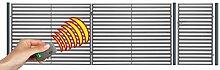 SO23 Einfahrtstor Hoftor Doppelflügeltor Gartentor Berlin 350 x 150 cm, mit Pforte 94 cm und elektr. Antrieb, Komplett-Set inklusive 2 Torflügeln, 1 Pforte, 3 Stahlpfosten, Beschlägen und 1 elektr. Antrieb mit 1 Fernbedienung. Gesamtbreite ist ca.487 cm