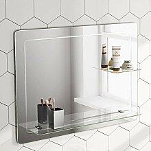 Soak Design-Wandspiegel mit Ablagefläche -