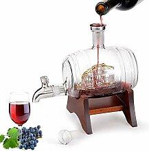 SOAR Weinregal Flaschenregal 1L Glas Wein-Fass,