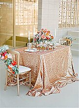 soardream 127x 127cm Silber Pailletten Tisch Overlay Silber Pailletten Tischdecke rose gold