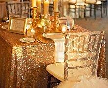 soardream 228,6x 396,2cm Gold Pailletten Tischläufer Pailletten Tischdecke