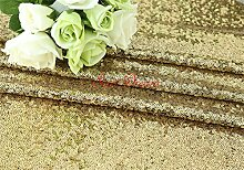 SoarDream 8Yard BlackGold DIY Dekoration Sequin Tischdecke für Hochzeitsfeier 50 cm brei