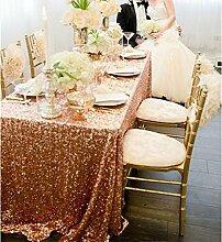 soardream großhandel luxus 125cm x 125cm rose gold pailletten - tischdecken für hochzeits - tabelle, pailletten - tischdecke.
