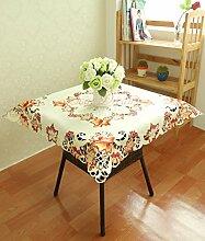 soardream handgefertigt Häkel-Tischdecke Party Baumwolle Tischdecke Pflanze Blumen Muster Hohl Tischdecke