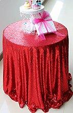 soardream Pailletten Tischdecke 243,8cm rund für Hochzeit/Dessert Tisch