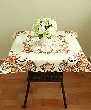 soardream Romantische Tischdecke mit Hohl Spitze oevrlay Tischdecke, rechteckig, Baumwolle Spitze Stoff