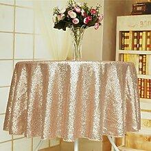 soardream Sparkly champangeblush Pailletten Glamorous Tischdecke/Stoff, ChampangeBlush, 127 cm