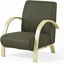 SoBuy® Design Armsessel, Lounge Sessel, Einzelsessel, Armstuhl aus Birkenholz, 1 Stück, FST26-SCH