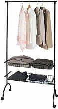 SoBuy® FRG243-SCH Garderobenwagen Kleiderständer