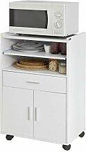 SoBuy® FSB09-W Küchenschrank Küchenwagen
