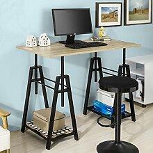 SoBuy® FWT32-N Höhenverstellbarer Schreibtisch Sitz-Stehtisch Computerschreibtisch Bürotisch Arbeitstisch Höhe:72-117cm