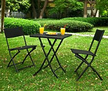 SoBuy® Gartenmöbel Set, Sitzgruppe, klappbar, Terrassenmöbel, Balkonmöbel, Bistromöbel OGT02