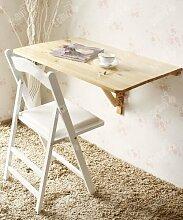 SoBuy® Küchentisch, Holztisch, Wandklapptisch, Esstisch, Schreibtisch, Tisch, 2x klappbar, 80x60cm FWT02-N