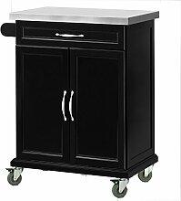 SoBuy® Luxus-Küchenwagen mit Edelstahltop,