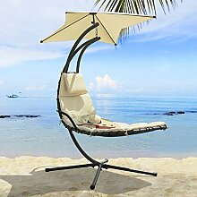 SoBuy OGS39-MI Schwebeliege mit Sonnenschirm