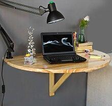 SoBuy® Wandklapptisch, Küchentisch, Esstisch, Kindermöbel, FWT10-N (Natur aus Holz)