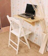 SoBuy Wandklapptisch,Küchentisch,Kindermöbel,Laptoptisch,Esstisch,Schreibtisch,60x40cm,Natur, FWT03-N