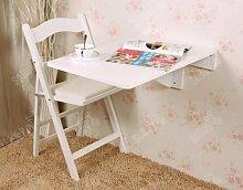 SoBuy® Wandklapptisch, Küchentisch, Kindermöbel, Wandtisch, Esstisch, Schreibtisch 70x45cm FWT04-W (Weiß)