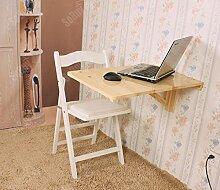 SoBuy® Wandklapptisch, Küchentisch, Kindermöbel, Wandtisch, Esstisch, Schreibtisch 70x45cm FWT04-N