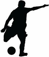 """Soccer Fußball Wand Aufkleber Aufkleber 3–Aufkleber Aufkleber und Wandbild für Kinder Jungen Mädchen- und Schlafzimmer. Team Sport Art Wand für Home Decor und Dekoration–Soccer Futbol Silhouette Wandbild, Vinyl, schwarz, 12 in. (10.3""""W x 12""""H)"""