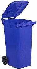 Socepi 220A1201K Mülltrennung, PEHD, Blau, 120 l