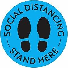 Social Isolation Boden-Aufkleber,