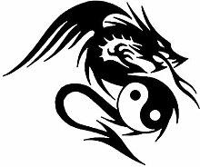 Social Liuzi 17.8cm * 13.7cm Drache geformte Yin