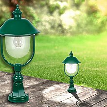 Sockel Leuchte ↥540mm/ Grün/ Alu/ AUSSEN Wege Lampe Aussenlampe Aussenleuchte Gartenlampe Gartenleuchte Sockellampe Sockelleuchte Wegelampe Wegeleuchte