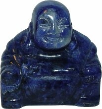 Sodalith Buddha aus echtem Edelstein Happy Buddha