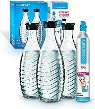 Sodastream Promopack Zylinder mit Glaskaraffe (1 x