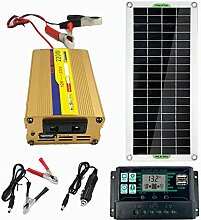 SODIAL 200W Solar Panel Kit 12V Bis 220V Batterie