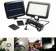 SODIAL 56 LED Outdoor Solarenergie Bewegungsmelder