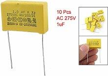 SODIAL (R) 10 Stueck AC 275V 1uF Polypropylen Folien Kondensatoren Sicherhei
