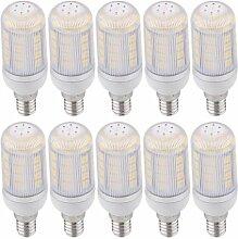 SODIAL(R) 10x E14 36 5050 SMD LED Spotlicht Mais Lampe Birne Warmweiss 6W AC 230V