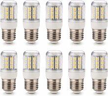 SODIAL(R) 10x E27 30 5050 SMD LED Lampe Strahler 4W Leuchte Leuchtmittel Warmweiss 220V