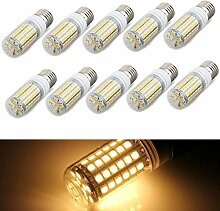 SODIAL(R) 10x E27 8W 69 LED 5050 SMD Lampe Leuchtmittel Spot Strahler Birne Warmweiss