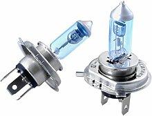 SODIAL(R) 2X H4 Gluehbirnen Gluehlampenue2Vue00W Lampe Birnen Weiss